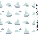 sailboat pattern  sailing boat... | Shutterstock .eps vector #685610275