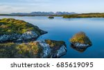lakes and trees with beautiful... | Shutterstock . vector #685619095