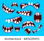 set of monster's mouth in... | Shutterstock .eps vector #685620451