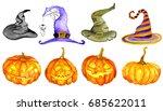 watercolor halloween. hand... | Shutterstock . vector #685622011