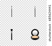 realistic contour style kit ... | Shutterstock .eps vector #685624441