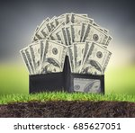 money from open a wallet | Shutterstock . vector #685627051