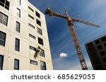 construction of apartment... | Shutterstock . vector #685629055