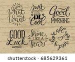 vintage poster with motivation... | Shutterstock .eps vector #685629361