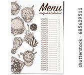 menu food restaurant template... | Shutterstock .eps vector #685629511