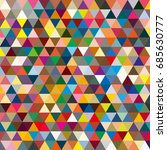 abstract geometric colorful... | Shutterstock . vector #685630777