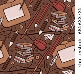 creativity seamless pattern....   Shutterstock .eps vector #685633735