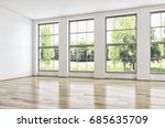 modern bright living room. 3d... | Shutterstock . vector #685635709