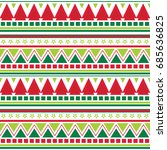 seamless background with aztec... | Shutterstock .eps vector #685636825