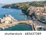 panorama top view on city... | Shutterstock . vector #685637389