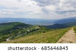 panorama view and mountain path | Shutterstock . vector #685646845