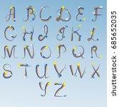 english alphabet  letters... | Shutterstock .eps vector #685652035