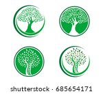 family tree symbol icon logo... | Shutterstock .eps vector #685654171