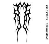 tattoo tribal vector design.... | Shutterstock .eps vector #685658455