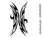 tattoo tribal vector design.... | Shutterstock .eps vector #685658485