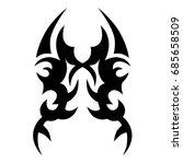 tattoo tribal vector design.... | Shutterstock .eps vector #685658509