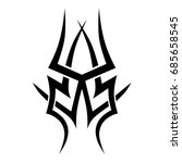 tattoo tribal vector design.... | Shutterstock .eps vector #685658545