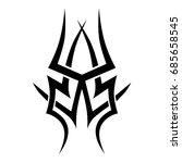 tribal tattoo art designs.... | Shutterstock .eps vector #685658545