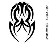 tattoo tribal vector design.... | Shutterstock .eps vector #685658554
