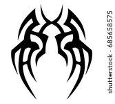 tattoo tribal vector design.... | Shutterstock .eps vector #685658575