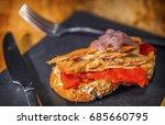 spanish pintxo or pincho ... | Shutterstock . vector #685660795