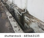 rough dirty with mossy of drain ... | Shutterstock . vector #685663135