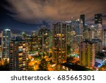 cityscape of downtown vancouver ... | Shutterstock . vector #685665301