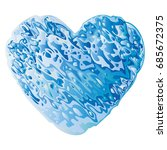 Valentine Heart Made Of Blue...