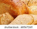 Composition with bakery products - stock photo