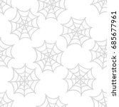 spider web seamless doodle... | Shutterstock .eps vector #685677961