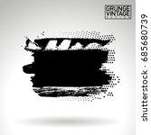black brush stroke and texture. ... | Shutterstock .eps vector #685680739