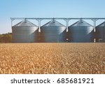 agricultural silo  foregro... | Shutterstock . vector #685681921
