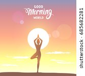 amazing silhouette woman... | Shutterstock .eps vector #685682281
