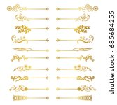 set of ruled decoration | Shutterstock .eps vector #685684255