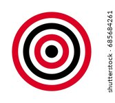 circle of target. archery... | Shutterstock .eps vector #685684261