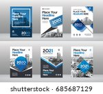 City Background Business Book Cover Design Template Set in A4. Can be adapt to Brochure, Annual Report, Magazine,Poster, Corporate Presentation, Portfolio, Flyer, Banner, Website | Shutterstock vector #685687129