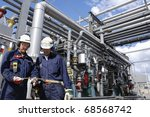 oil engineer  workers in front... | Shutterstock . vector #68568742