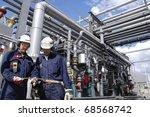 oil engineer  workers in front... | Shutterstock . vector #68568742