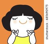 girl pointing finger to herself ...   Shutterstock .eps vector #685690975