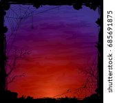 night halloween background with ... | Shutterstock .eps vector #685691875