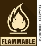 flammable symbol. fire icon.... | Shutterstock .eps vector #685694461