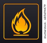 flammable symbol. fire icon.... | Shutterstock .eps vector #685694479