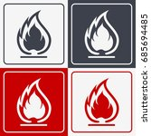 flammable symbol. fire icon.... | Shutterstock .eps vector #685694485