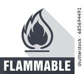 flammable symbol. fire icon.... | Shutterstock .eps vector #685694491