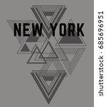 newyork superior tee graphic | Shutterstock .eps vector #685696951