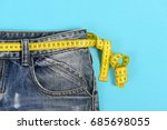 upper part of denim trousers... | Shutterstock . vector #685698055