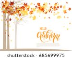 bright background with maple... | Shutterstock .eps vector #685699975