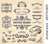 ornate vintage frames and... | Shutterstock .eps vector #685701805