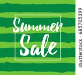summer sale inscription with... | Shutterstock .eps vector #685705399