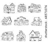 set of houses | Shutterstock .eps vector #68571076